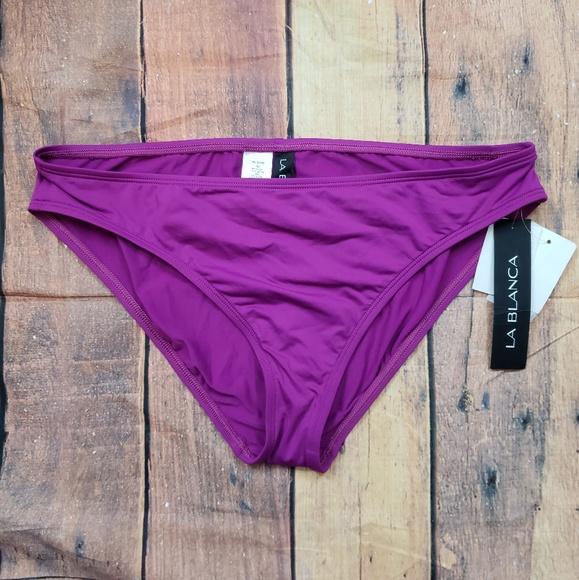 63c30a603c La Blanca Swim | Hipster Bikini Bottom Fuschia Sz 14 Nwt | Poshmark